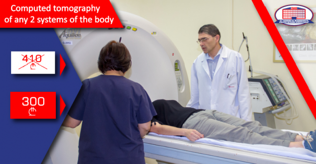 We offer you the Computed Tomography scanning with a contrast of any 2 systems!