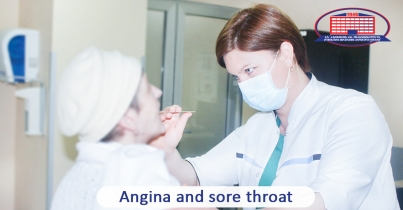 What is angina and what are symptoms that make it different from a usual sore throat?
