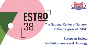 Heads of National Center of Surgery and head of clinic's department of radiotherapy attended ESTRO Congress