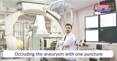 Aneurysm suppressed with one puncture – Surgeons defeated rarest pathology.