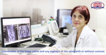 We offer magnetic-resonance imaging of any spinal segment and lesser pelvis with or without contrast