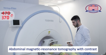 Undergo abdominal or lesser pelvic magnetic-resonance tomography with contrast for a significantly low price!