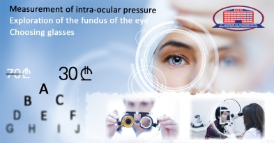 We offer a consultation with an ophthalmologist