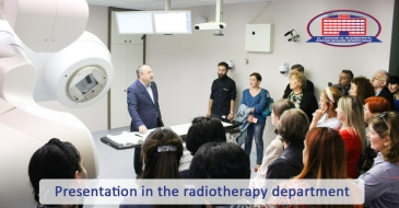 "Radiotherapy department introduced contemporary principles in the management of oncology to representatives of ""Aversi Clinic"