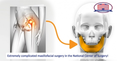 Maxillofacial surgeons used hip bone to restore patient's lower jaw!