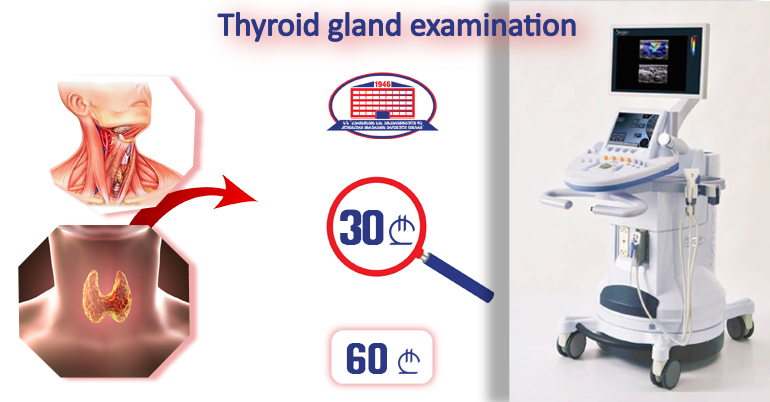 Thyroid gland examination with ultrasound elastography for 30 Gel