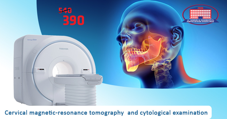 Consultation with maxillofacial surgeon,  cervical magnetic-resonance tomography and cytological examination for 390 GEL