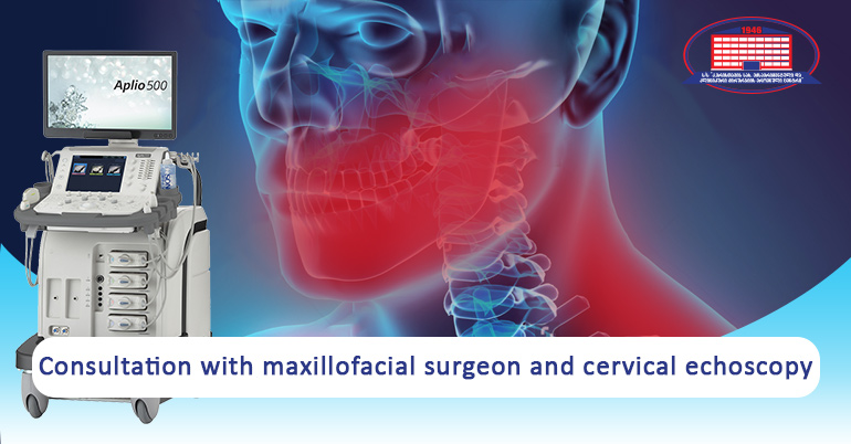 We offer a consultation with maxillofacial surgeon and cervical (Soft tissue of the neck) echoscopy